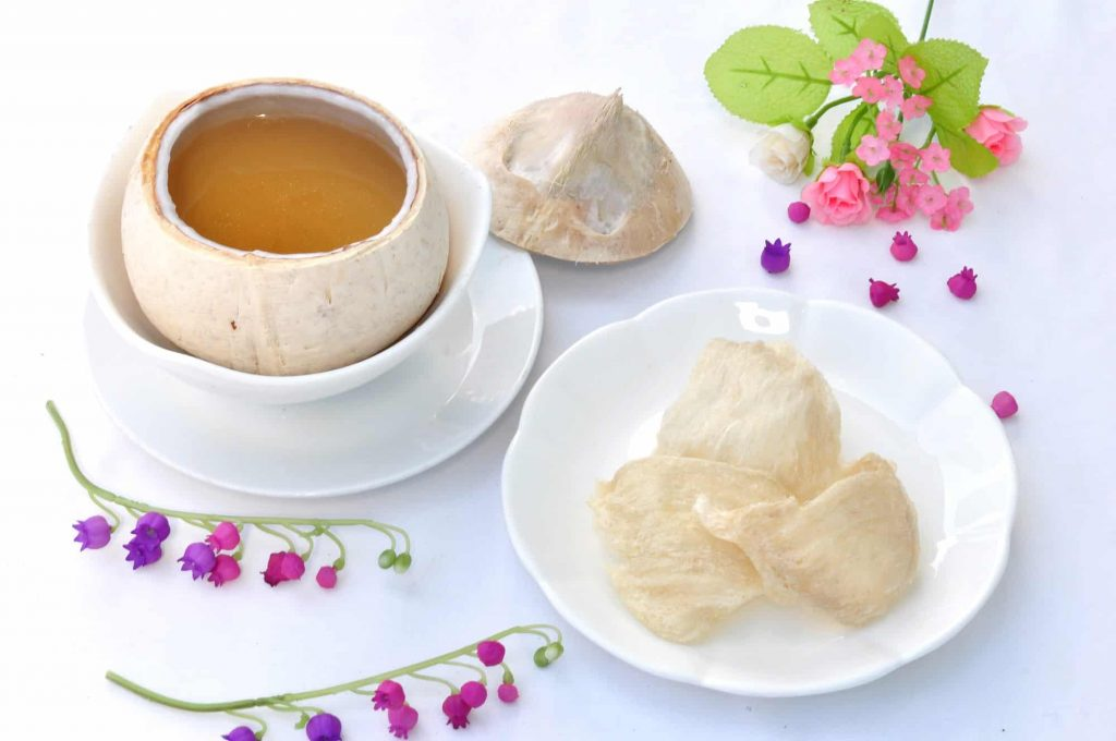 double boiled bird nest with coconut chinese dessert 2
